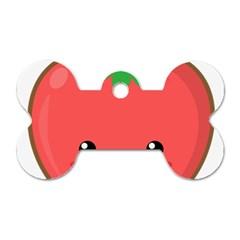 Kawaii Tomato Dog Tag Bone (One Side)