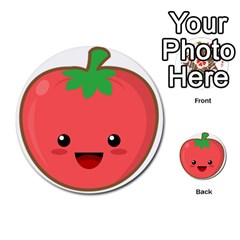 Kawaii Tomato Multi-purpose Cards (Round)