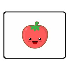 Kawaii Tomato Fleece Blanket (small)