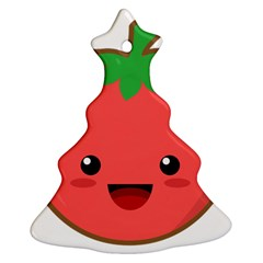 Kawaii Tomato Christmas Tree Ornament (2 Sides)
