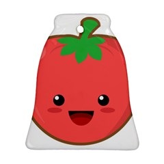 Kawaii Tomato Bell Ornament (2 Sides)