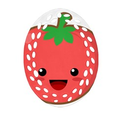 Kawaii Tomato Oval Filigree Ornament (2-Side)