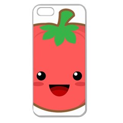 Kawaii Tomato Apple Seamless iPhone 5 Case (Clear)