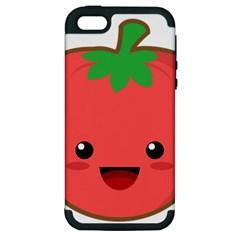 Kawaii Tomato Apple iPhone 5 Hardshell Case (PC+Silicone)