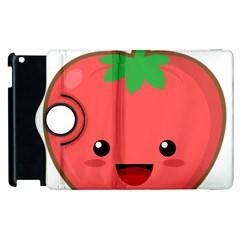 Kawaii Tomato Apple iPad 3/4 Flip 360 Case