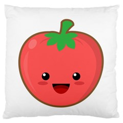 Kawaii Tomato Large Flano Cushion Cases (Two Sides)