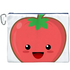 Kawaii Tomato Canvas Cosmetic Bag (XXXL)