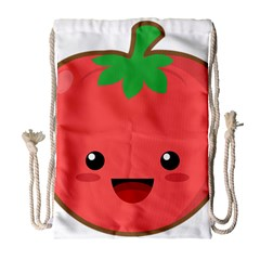Kawaii Tomato Drawstring Bag (Large)
