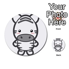 Kawaii Zebra Multi Purpose Cards (round)