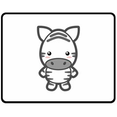 Kawaii Zebra Fleece Blanket (medium)