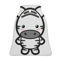 Kawaii Zebra Ornament (Bell)