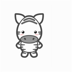 Kawaii Zebra Large Garden Flag (two Sides)