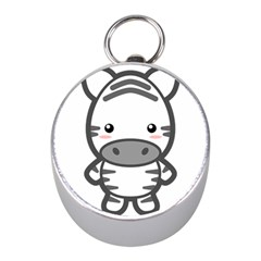 Kawaii Zebra Mini Silver Compasses