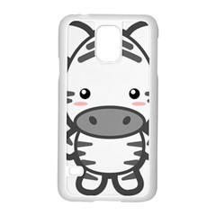 Kawaii Zebra Samsung Galaxy S5 Case (White)