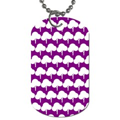 Tree Illustration Gifts Dog Tag (One Side)