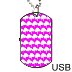 Tree Illustration Gifts Dog Tag USB Flash (Two Sides)