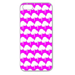 Tree Illustration Gifts Apple Seamless iPhone 5 Case (Clear)