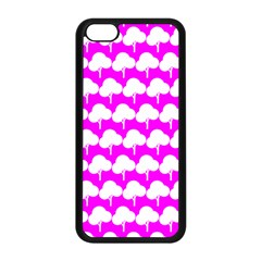Tree Illustration Gifts Apple iPhone 5C Seamless Case (Black)