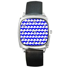 Tree Illustration Gifts Square Metal Watches