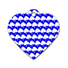 Tree Illustration Gifts Dog Tag Heart (one Side)