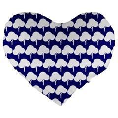 Tree Illustration Gifts Large 19  Premium Heart Shape Cushions