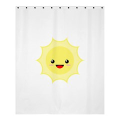 Kawaii Sun Shower Curtain 60  x 72  (Medium)