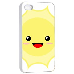 Kawaii Sun Apple iPhone 4/4s Seamless Case (White)