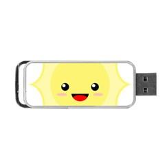 Kawaii Sun Portable USB Flash (Two Sides)
