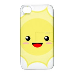 Kawaii Sun Apple iPhone 4/4S Hardshell Case with Stand