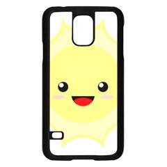 Kawaii Sun Samsung Galaxy S5 Case (Black)