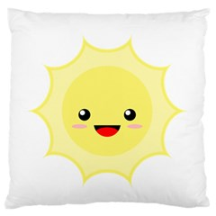 Kawaii Sun Large Flano Cushion Cases (one Side)