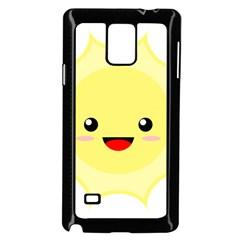 Kawaii Sun Samsung Galaxy Note 4 Case (Black)