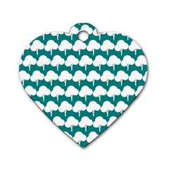 Tree Illustration Gifts Dog Tag Heart (two Sides)
