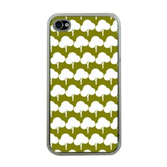 Tree Illustration Gifts Apple iPhone 4 Case (Clear)