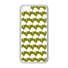 Tree Illustration Gifts Apple iPhone 5C Seamless Case (White)