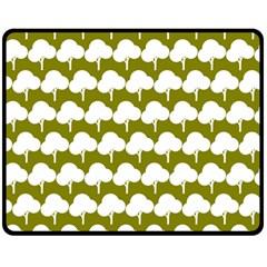 Tree Illustration Gifts Double Sided Fleece Blanket (Medium)