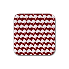 Tree Illustration Gifts Rubber Square Coaster (4 pack)