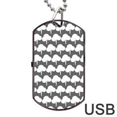 Tree Illustration Gifts Dog Tag USB Flash (One Side)
