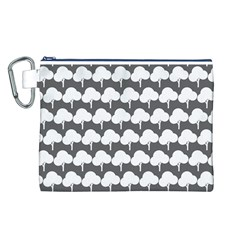 Tree Illustration Gifts Canvas Cosmetic Bag (L)