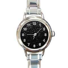 Crystal Bling Strass G283 Round Italian Charm Watches