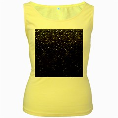Crystal Bling Strass G283 Women s Yellow Tank Tops