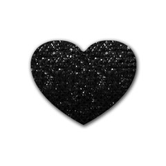 Crystal Bling Strass G283 Rubber Coaster (Heart)