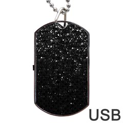 Crystal Bling Strass G283 Dog Tag USB Flash (One Side)