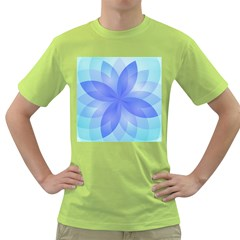 Abstract Lotus Flower 1 Green T-Shirt
