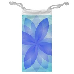 Abstract Lotus Flower 1 Jewelry Bags