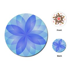Abstract Lotus Flower 1 Playing Cards (Round)