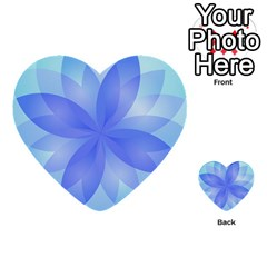 Abstract Lotus Flower 1 Multi Purpose Cards (heart)