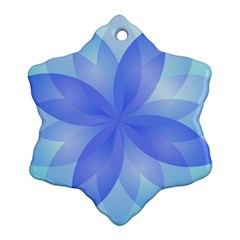 Abstract Lotus Flower 1 Snowflake Ornament (2-Side)