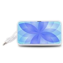 Abstract Lotus Flower 1 Portable Speaker (White)