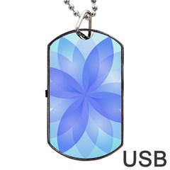 Abstract Lotus Flower 1 Dog Tag Usb Flash (two Sides)
